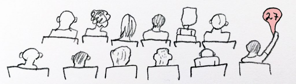 Illustration of a Number auction